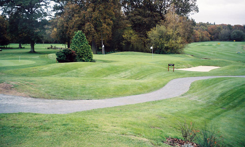 Golf course construction covering